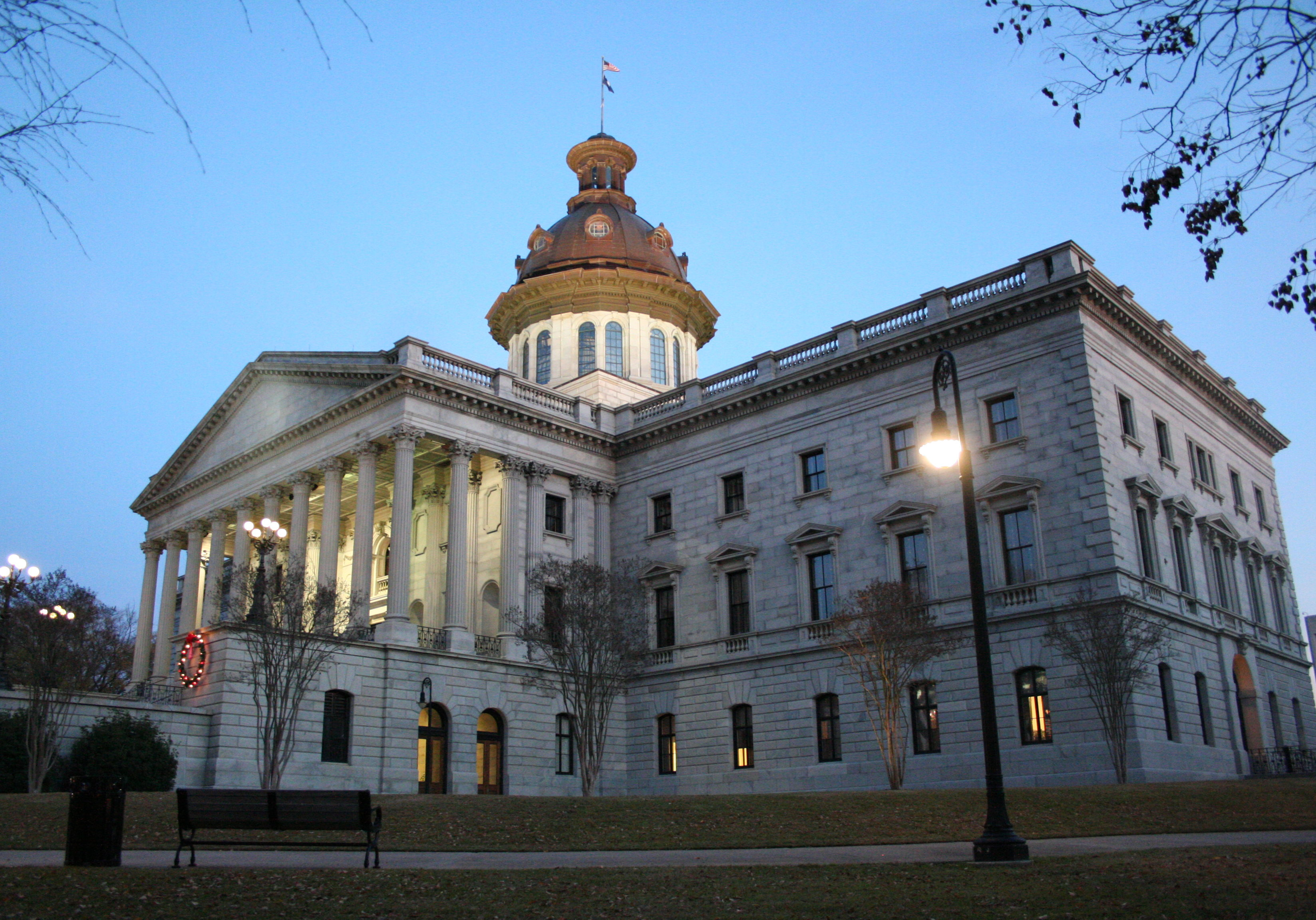 SC_State_House_at_evening